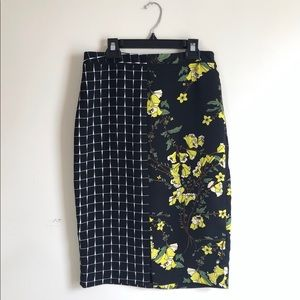 Who What Wear Skirts - Who What Wear | Floral & Window Pane Pencil Skirt
